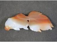 瑪瑙帯留 金魚