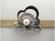 真珠螺鈿帯留
