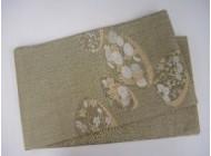 草花紋紗帯