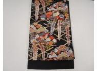 六通華紋袋帯 西陣織