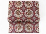 龍村美術織物 獅子狩文錦 全通柄袋帯